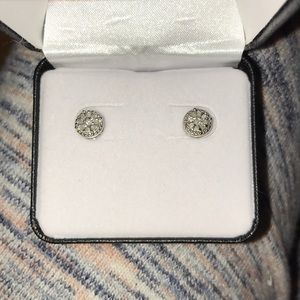 Belk 1/4 diamond sterling silver earrings